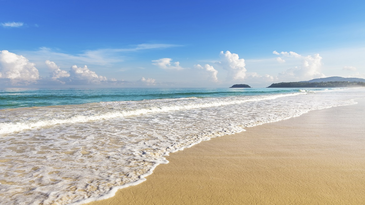 Beautiful sea. Karon beach, Phuket, Thailand. Asia